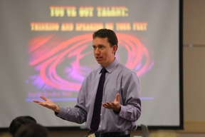 Scott Enebo facilitating improv speaking skills